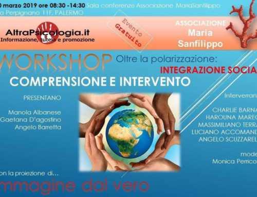 30 Marzo 2019 WORKSHOP sull'integrazione sociale.